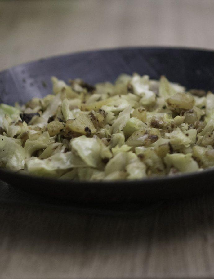 Kartoffel-Weißkohl-Gröstel