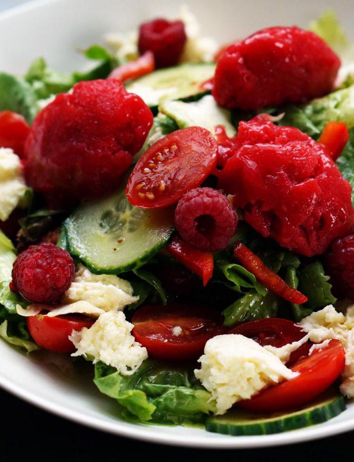 Tomaten-Himbeer-Sorbet