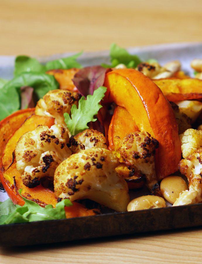 Herbstgemüse mit Bohnen aus dem Ofen