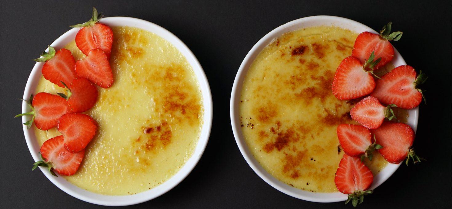 Spargel Crème brûlée
