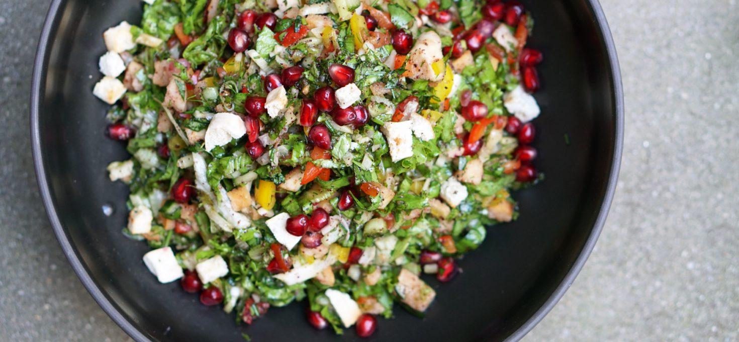 Bunter Fattoush-Salat