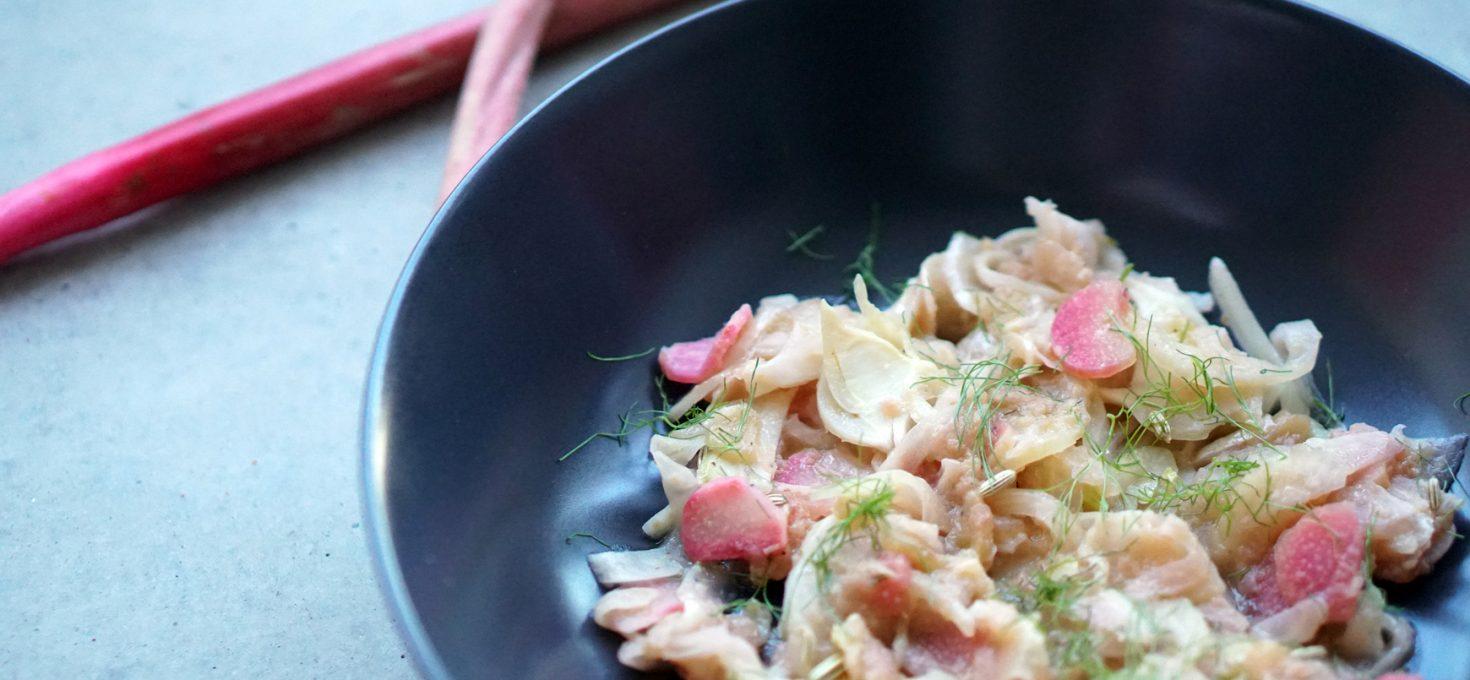 Fenchel-Rhabarber-Salat